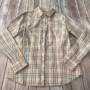 NWT Vineyard vines ruffle front button up